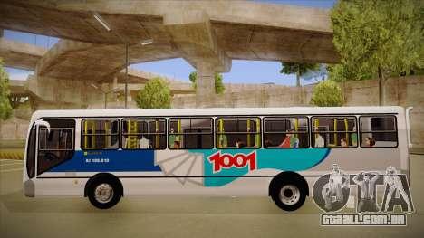 Busscar Urbanuss Pluss 2009 para GTA San Andreas traseira esquerda vista