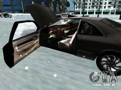 Lincoln Continental Mark VIII 1996 para vista lateral GTA San Andreas