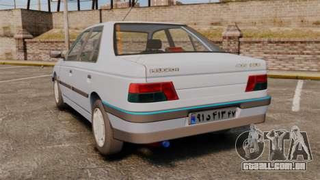 Peugeot 405 GLX Final para GTA 4 traseira esquerda vista