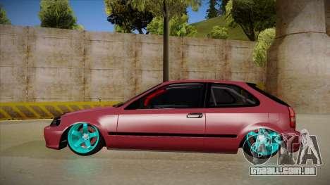 Honda Civic EK9 Drift Edition para GTA San Andreas traseira esquerda vista