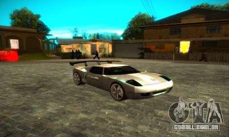 Bullet GT32 Big Spoiler para GTA San Andreas traseira esquerda vista