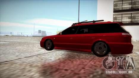 Subaru Legacy Wagon Hellaflush para GTA San Andreas esquerda vista