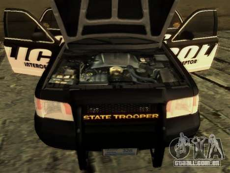 Ford Crown Victoria Police Interceptor para GTA San Andreas vista direita