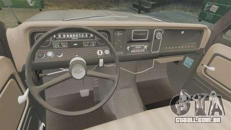 Chevrolet C-10 Stepside v2 para GTA 4 vista interior