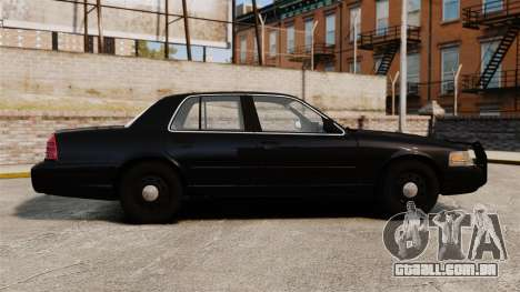 Ford Crown Victoria 2008 FBI para GTA 4 esquerda vista