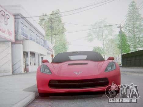 Chevrolet Corvette C7 Stingray 2014 para GTA San Andreas vista traseira