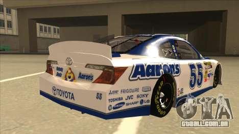 Toyota Camry NASCAR No. 55 Aarons DM white-blue para GTA San Andreas vista direita