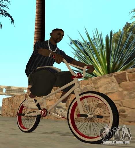 BMX para GTA San Andreas traseira esquerda vista