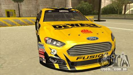 Ford Fusion NASCAR No. 9 Stanley DeWalt para GTA San Andreas esquerda vista