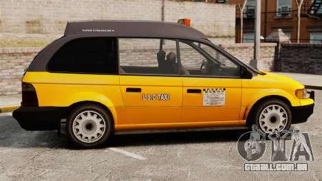 Táxi melhorada para GTA 4 esquerda vista
