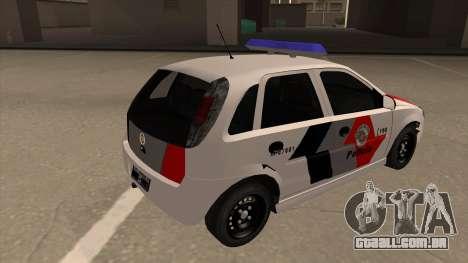 Chevrolet Corsa VHC PM-SP para GTA San Andreas vista direita