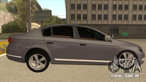 Volkswagen Passat 2.0 Turbo para GTA San Andreas traseira esquerda vista