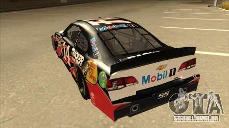 Chevrolet SS NASCAR No. 14 Mobil 1 Tracker Boats para GTA San Andreas vista traseira