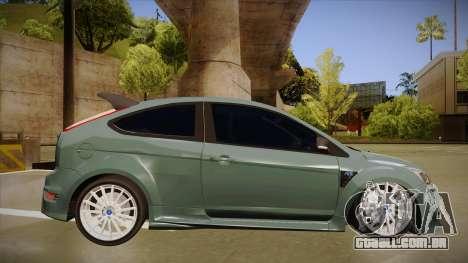 Ford Focus RS 2010 para GTA San Andreas traseira esquerda vista