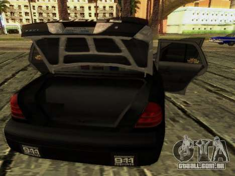 Ford Crown Victoria Police Interceptor para GTA San Andreas vista superior