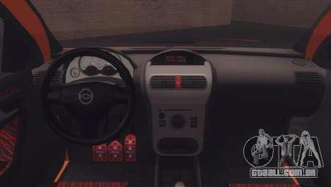 Chevrolet Montana Combo para GTA San Andreas vista interior