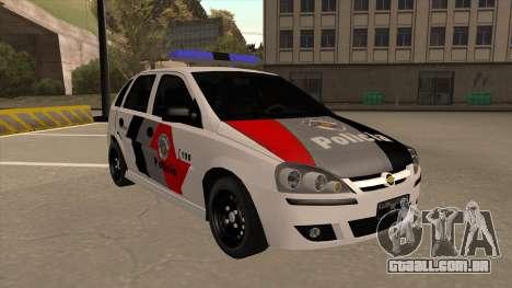Chevrolet Corsa VHC PM-SP para GTA San Andreas esquerda vista