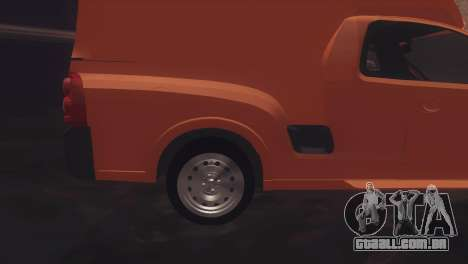 Chevrolet Montana Combo para GTA San Andreas traseira esquerda vista