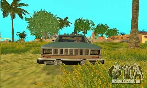 Bobcat armadura Off-Road para GTA San Andreas vista interior