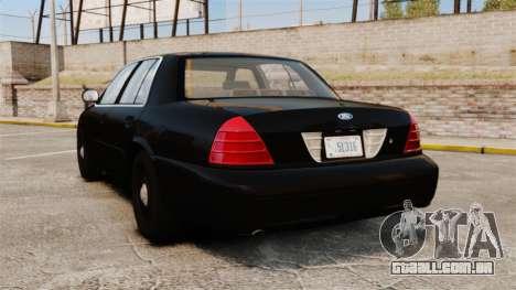 Ford Crown Victoria 2008 FBI para GTA 4 traseira esquerda vista