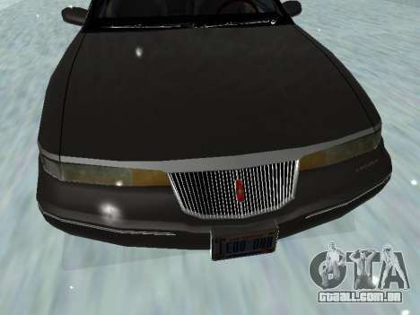 Lincoln Continental Mark VIII 1996 para GTA San Andreas vista inferior
