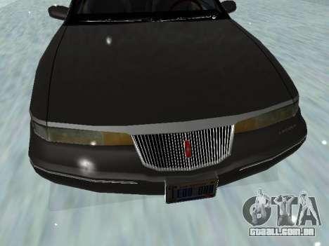 Lincoln Continental Mark VIII 1996 para GTA San Andreas vista inferior