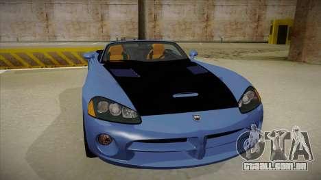 Dodge Viper v1 para GTA San Andreas esquerda vista
