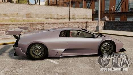 Lamborghini Murcielago RSV FIA GT1 v2.0 para GTA 4 esquerda vista