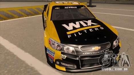 Chevrolet SS NASCAR No. 39  Wix Filters para GTA San Andreas esquerda vista