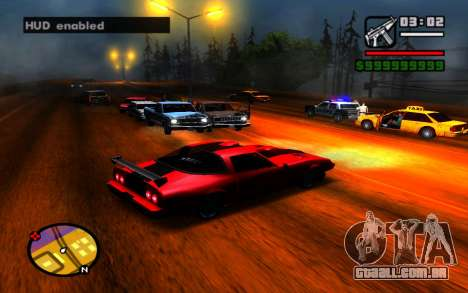 Esconder HUD para GTA San Andreas terceira tela