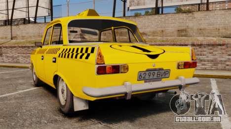 IZH-moskvitch 412 para GTA 4 traseira esquerda vista