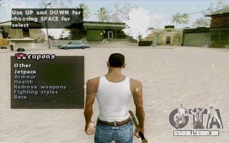 Weapons Menu Mod para GTA San Andreas terceira tela