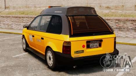 Táxi melhorada para GTA 4 traseira esquerda vista