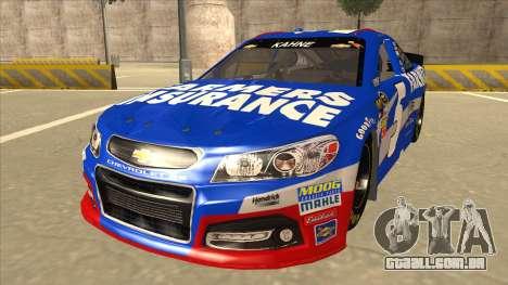 Chevrolet SS NASCAR No. 5 Farmers Insurance para GTA San Andreas