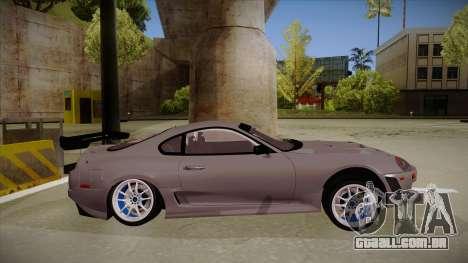 Toyota Supra RZ para GTA San Andreas traseira esquerda vista