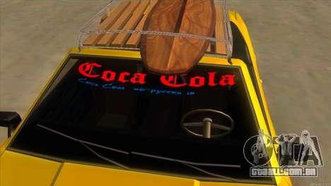 Elegy New Year for JDM para GTA San Andreas vista inferior