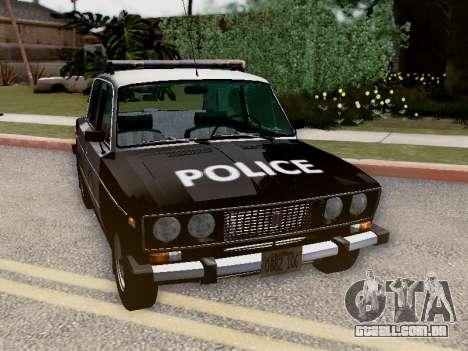 Polícia de Los Santos VAZ 2106 para GTA San Andreas