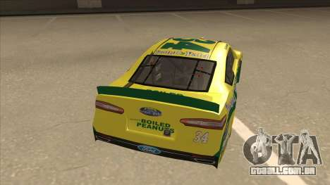 Ford Fusion NASCAR No. 34 Peanut Patch para GTA San Andreas vista direita