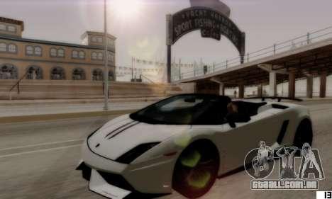 VI ENB para PCs de baixo para GTA San Andreas por diante tela