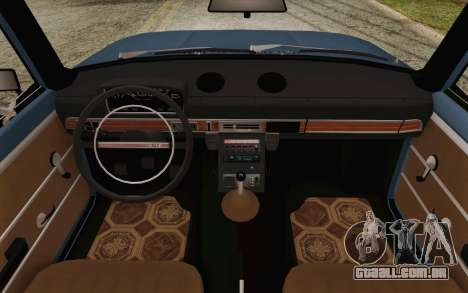 VAZ 21011 Aeroflot para GTA San Andreas vista interior