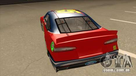 Ford Fusion NASCAR No. 95 para GTA San Andreas vista traseira