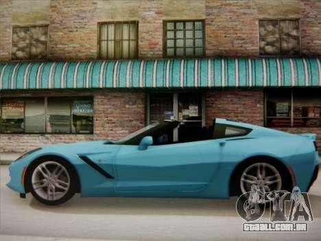Chevrolet Corvette C7 Stingray 2014 para GTA San Andreas esquerda vista