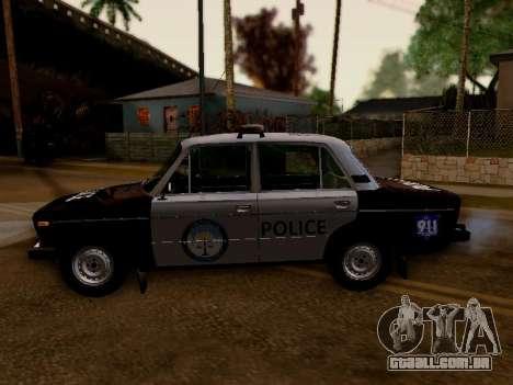 Polícia de Los Santos VAZ 2106 para GTA San Andreas esquerda vista
