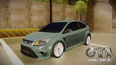 Ford Focus RS 2010 para GTA San Andreas
