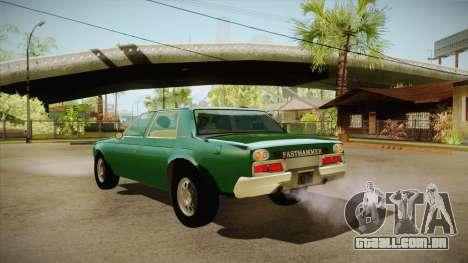 Fasthammer para GTA San Andreas traseira esquerda vista