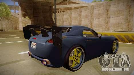 Pontiac Solstice Rhys Millen para GTA San Andreas vista direita