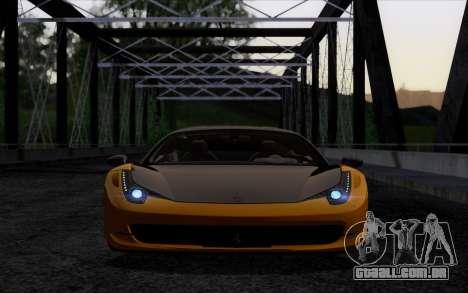 Ferrari 458 Italia Novitec Rosso Carbon para GTA San Andreas vista direita
