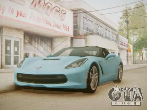 Chevrolet Corvette C7 Stingray 2014 para GTA San Andreas vista direita