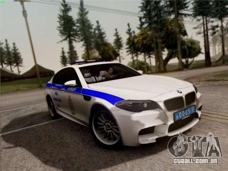 BMW M5 F10 ESCRITÓRIO INTERIOR para GTA San Andreas