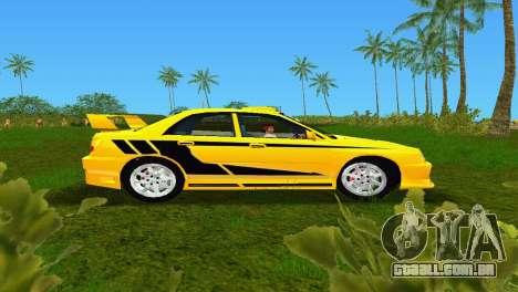 Subaru Impreza WRX v1.1 para GTA Vice City deixou vista